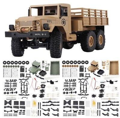 WPL B-16 B16 Hors Route RC Camion Militaire WPL mise à niveau KIT DIY 1:16 RC Voiture Buggy RC WPL Monstre camion 6WD 6 Roue Assembler Sur Chenilles