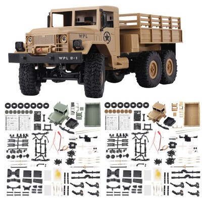 WPL B-16 B16 Off-Road RC Caminhão Militar WPL upgrade KIT DIY WPL 1:16 RC Buggy Carro RC Monstro caminhão 6WD 6 Roda Montar Crawler