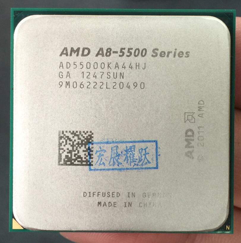 AMD PC ordinateur CPU GPU Vidéo carA-Série APU X4 A8-5500K A8 5500 k FM2 Quad-Core CPU 100% fonctionne correctement De Bureau Processeur