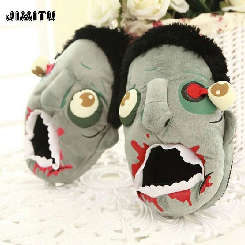 0bc7fa1ed59 Women Anime Cartoon ThinkGeek Slippers Lovers Warm Woman Slippers Elf Ball  Pikachu Go Plush Shoes Home House Slippers Children-in Movies   TV from  Toys ...