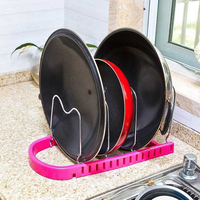 Creative Stainless Steel Kitchen Rack Multi Function Lid Rest Stand Spoon Holder multi function home kitchen dish lid rack