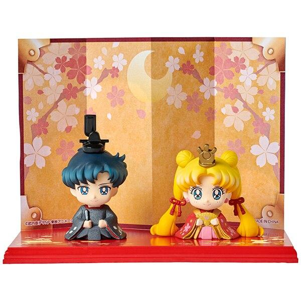 PrettyAngel ของแท้ Megahouse Petit Chara Hinamatsuri Pretty Guardian Sailor Moon Usagi & Mamoru Haruka & Michiru-ใน ฟิกเกอร์แอคชันและของเล่น จาก ของเล่นและงานอดิเรก บน   2