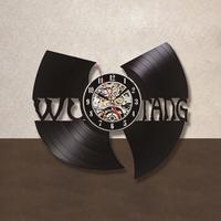WU TANG CLAN HIP HOP Band Hot Record Clock Vinyl Creative Gift For Fans Hanging Wall
