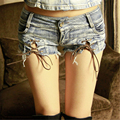 2017 Summer Hot Sale Mini Hole Denim Shorts Women Lacing Casual Silm Shorts Jeans Female Ladies Shorts Vaqueros Mujer