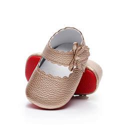 С бантом обувь для девочек сладкий Повседневное принцессы для маленьких девочек из искусственной кожи кроватки Babe малыш милый обувь для
