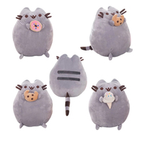 1pc 25cm Kawaii Brinquedos New Cat Pusheen Cookie Icecream Stuffed Plush Animals Toys Kids Baby Doll