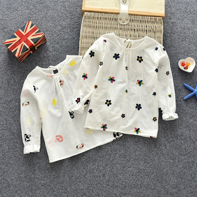 Cute White Printed Cotton Blouse