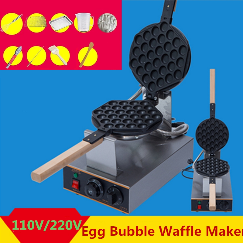 Gofrera Bubble Waffle Gofrera de Huevo al Estilo Hong Kong 220V Eléctrico 1400W