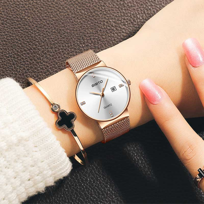 Fashion Luxury Watches Women Quartz Watch Lady Mesh Watchband Casual Waterproof Wristwatches Gift For WifeFashion Luxury Watches Women Quartz Watch Lady Mesh Watchband Casual Waterproof Wristwatches Gift For Wife