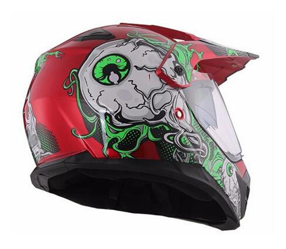 Capacete casco moto WANLI motorcycle helmet dual lens cross country helmet off road racing motocross helmet with inner sun visor