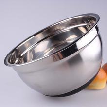 Высококачественная чаша для смешивания яиц из нержавеющей стали с эргономичной нескользящей Силиконовой основой для яиц кухонная утварь