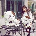 45 cm plush cat juguete lindo big head cat animal de juguete almohada forma juguetes de los niños sonriendo cat peluche de felpa muñeca de regalo para la muchacha de la alta calidad