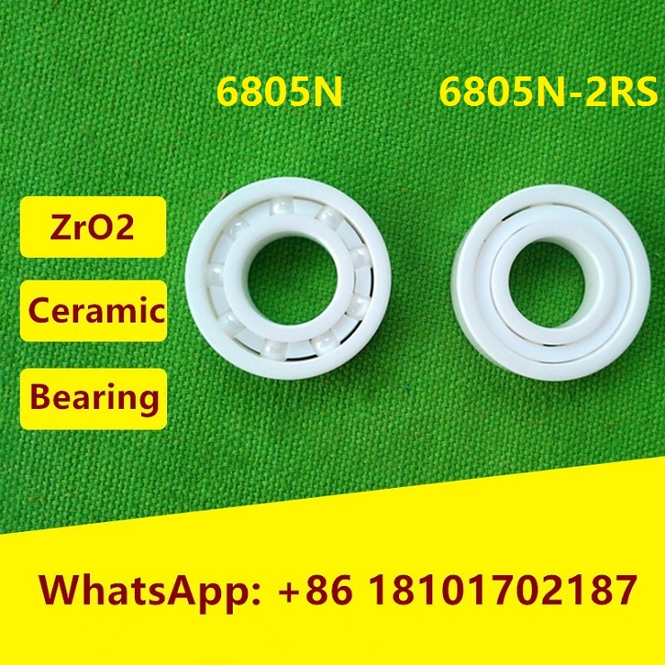 6805N 6805N-2RS ZrO2 full ceramic bearing <font><b>25x37x6</b></font> mm 25376 bike wheels bottom bracket repair bearing BB51 BB86 25*37*6 image