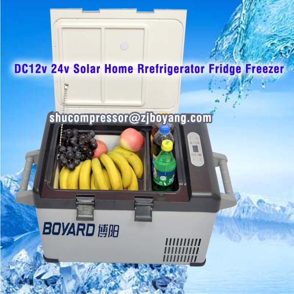 12v dc deep freezer refrigerator unit for wine cooling system with solar battery power for motorhome mobile house