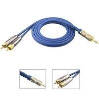 Стерео 3.5 мм 2 RCA штекер аудио кабель для iphone стерео аудио Динамик Инструменты для наращивания волос AUX Splitter Кабо Провода 1 м 2 м 3 м 5 м
