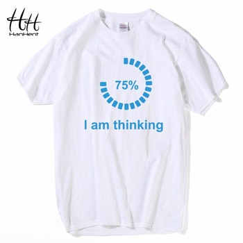 HanHent I am Thinking Loading T-shirts Creative 2018 Short Sleeve Tops Tees Streetwear Geek Shirts Teens Boys Casual Clothes