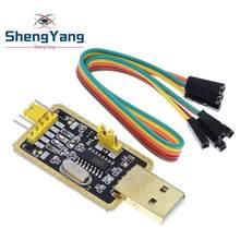 1 módulo de shengyang ch340 dos pces em vez de pl2303, ch340g rs232 para o módulo de ttl atualizar usb para o porto serial em nove placas pequenas da escova