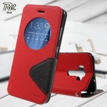 Рев Корея для Asus Zenfone 3 ZE520KL Leathe Чехлы окном View искусственная кожа Стенд телефон чехол для Asus Zenfone 3 ZE520KL Корпуса