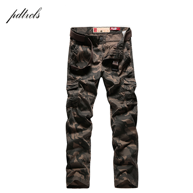 PDTXCLS  Spring New Cargo Pants Men Cotton Tactical Trousers Men Work Mens Trousers Overalls Pantalon Homme Verion camouflage 33