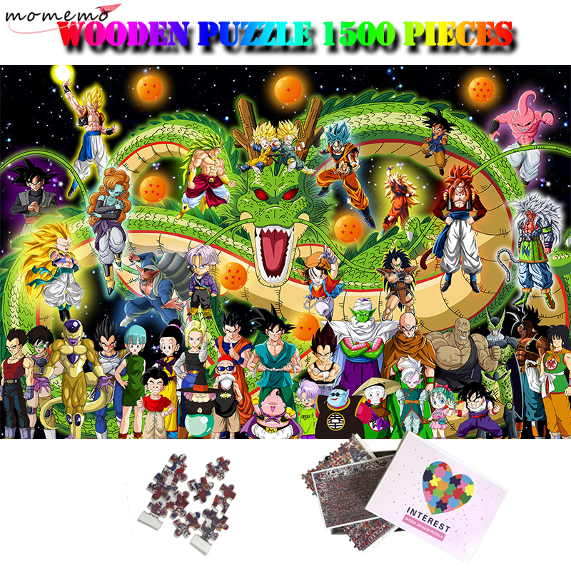MOMEMO Dragon Ball Puzzle 1500 Pieces Adult Wooden Puzzle Toy Anime 1500 Piece Difficult Jigsaw Puzzles Interesting Puzzle Toy