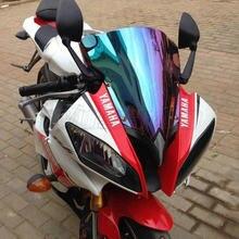 Moto parabrisas de pantalla para 2008, 2009, 2010, 2011, 2012, 2013, 2014, 2015 Yamaha 2016 YZF-R6 YZF 600 R6 Black Iridium