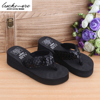 2016 New Arrival Summer Women Slide Sandals Woman Shoes Ladies Slippers On The Platform With Beautiful