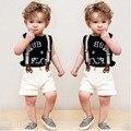 Детская одежда мальчиков короткий рукав футболку + шорты + ремешок из трех - детская одежда мальчиков устанавливает 2 - 7 лет 40 #