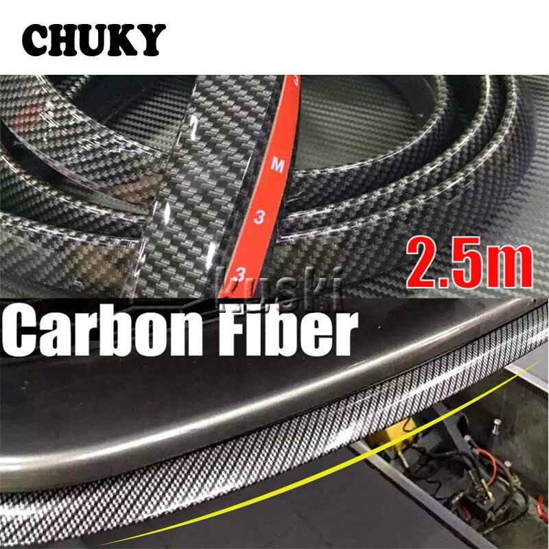 Car Stickers 2.5m Car Front Chin Spoiler Rubber Strip For Subaru Impreza Chevrolet Cruze Captiva Lacetti Hyundai I30 Creta ix35