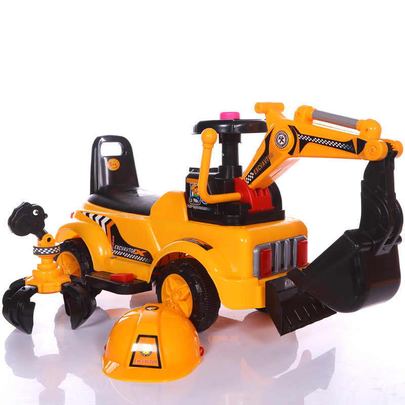 2 In 1 Electric Kids Car Ride On Toys Excavator Music Light Four Wheels Construction Machine Ride On Toys Car For Kids Children