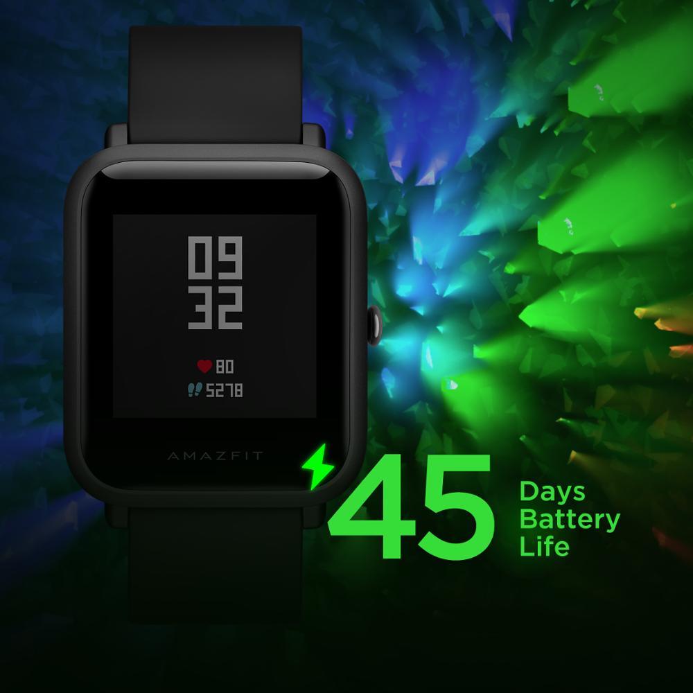 Amazfit Bip Lite Smart Horloge 45 Dag Batterij Leven 3ATM Water weerstand Activiteit Gezonde Tracking Smartphone Apps Meldingen-in Smart watches van Consumentenelektronica op  Groep 3
