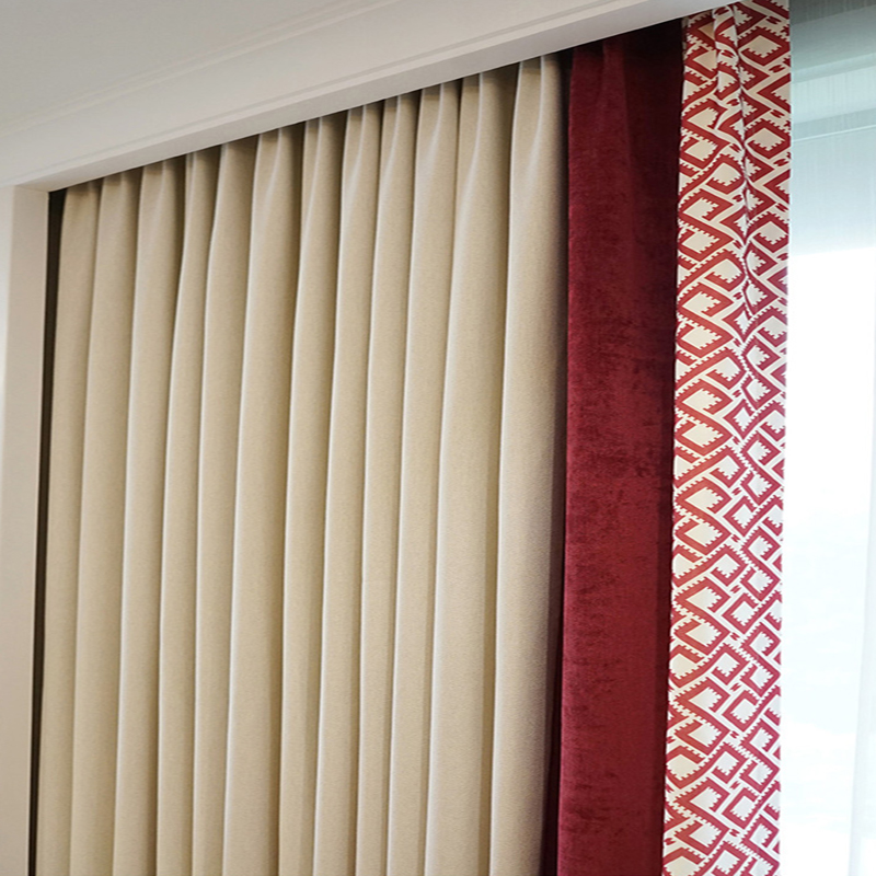 Us 97 3 30 Off Custom Nordic Luxury Curtain Bedroom Curtains Thicken Living Room Patchwork Design Dormitorio Christmas Window Rings In