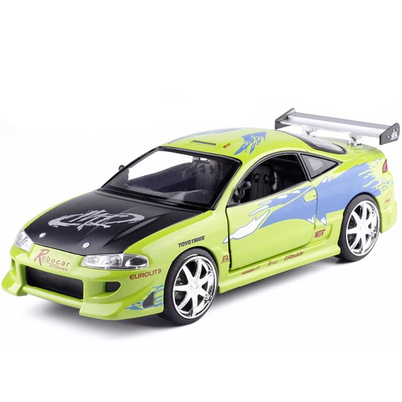 free shipping JADA 1:24 Advanced alloy car model high imitation fast furious Mitsubishi Eclipse Racing toy car model