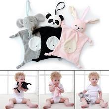 Новорожденные младенцы Бланки плюшевые успокаивающие игрушки в форме животных безопасности одеяло для малышей успокаивающее полотенце для ухода за ребенком
