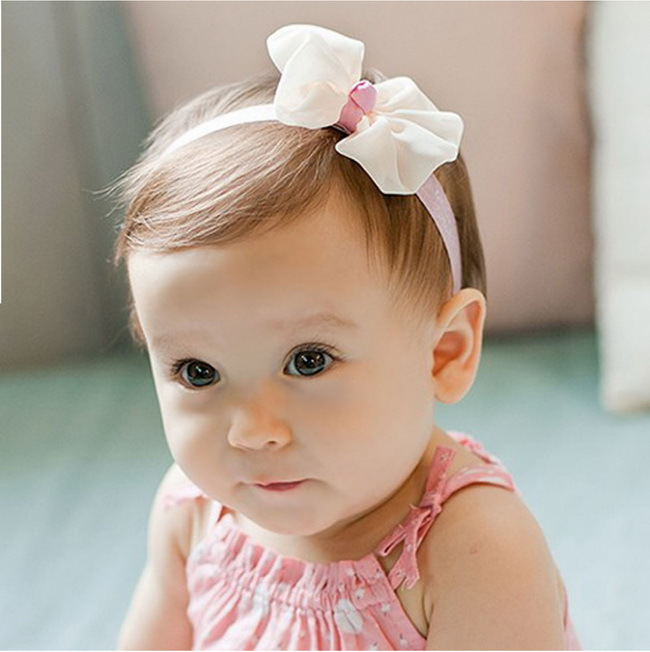Chiffon Infant Handmade Fabric Stretch Headband Candy Color Light Pink  Hairband Rose Red Baby Girl Head Wear Princess Hairband-in Hair Accessories  from ... 65b833b15a2