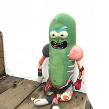 45cm Rick And Morty Cute Pickle Plush Stuffed Toy Doll Funny Soft Pillow Toys For Girls Birthdays Gifts Kids
