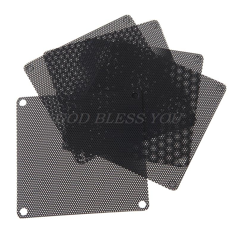 5pcs 120mm Black PC Fan Dust Filter Dustproof Case Computer Mesh LB