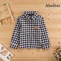 Nuevo 2016 muchachos camisa de la blusa del verano del resorte niños prendas de vestir exteriores 100% algodón embroma la ropa manga larga alta calidad blusa de moda