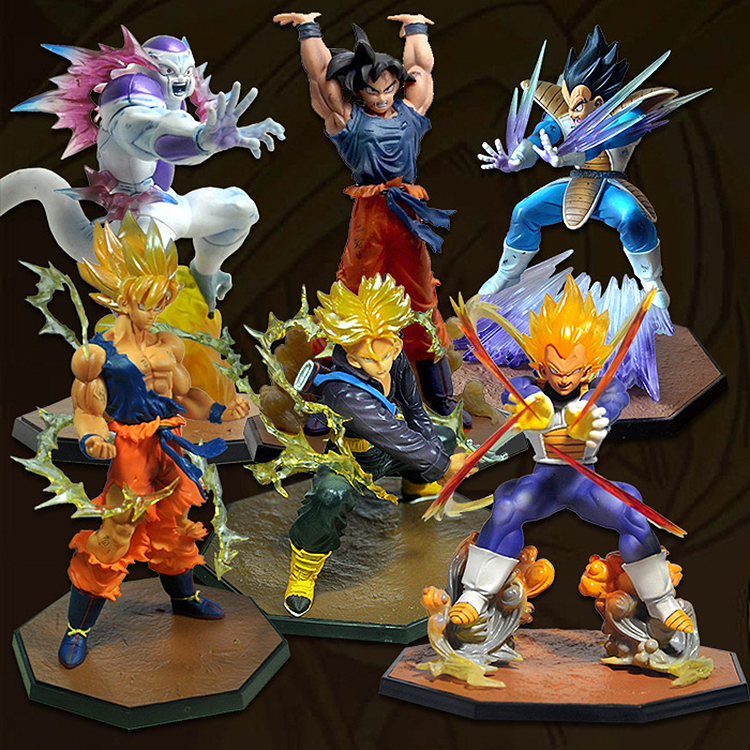 Japanese anime figure dragon ball buu Vegeta Trunks Son Goku Gohan Cell Frieza action figure collectible model toys for boys