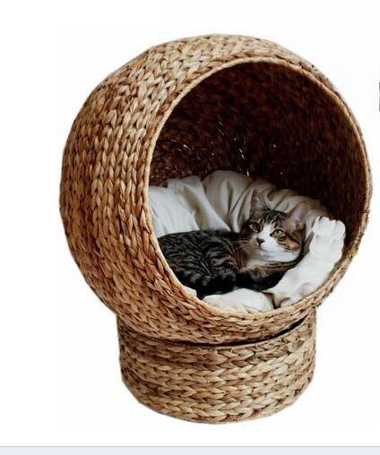 confortable naturel feuille de bananier chat grotte pet. Black Bedroom Furniture Sets. Home Design Ideas