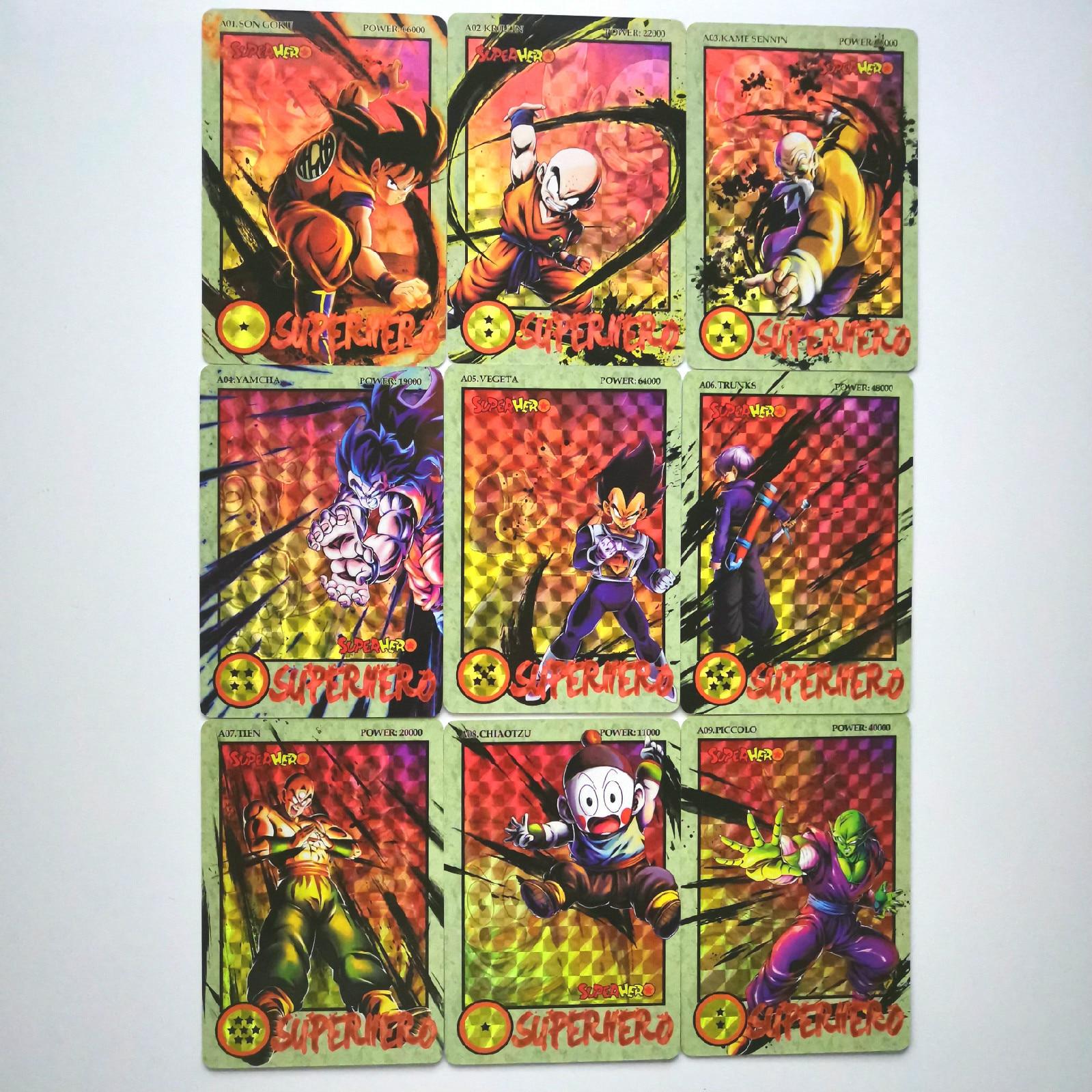 36pcs Super Dragon Ball Z Ink Relief Heroes Battle Card Ultra Instinct Goku Vegeta Super Game Collection Cards