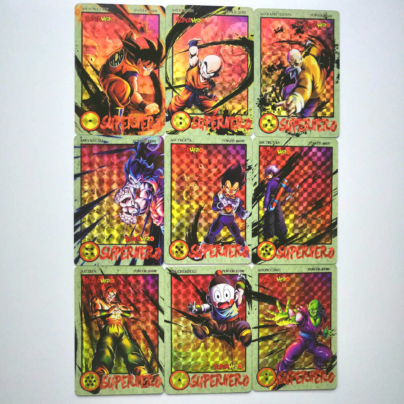 36pcs Super Dragon Ball Z Ink Relief Heroes Battle Card Ultra Instinct Goku Vegeta Super Game Collection Cards
