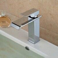 Güverte monte krom cilalı şelale banyo Bataryası havzası mikser dokunun