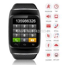 สมาร์ทบลูทูธนาฬิกาS12สมาร์ทสวมใส่ตัดข้อมือนาฬิกาซิงค์โทรสำหรับip hone A Ndroid HTC Nokiaโทรศัพท์ใหม่2015หรูหรา