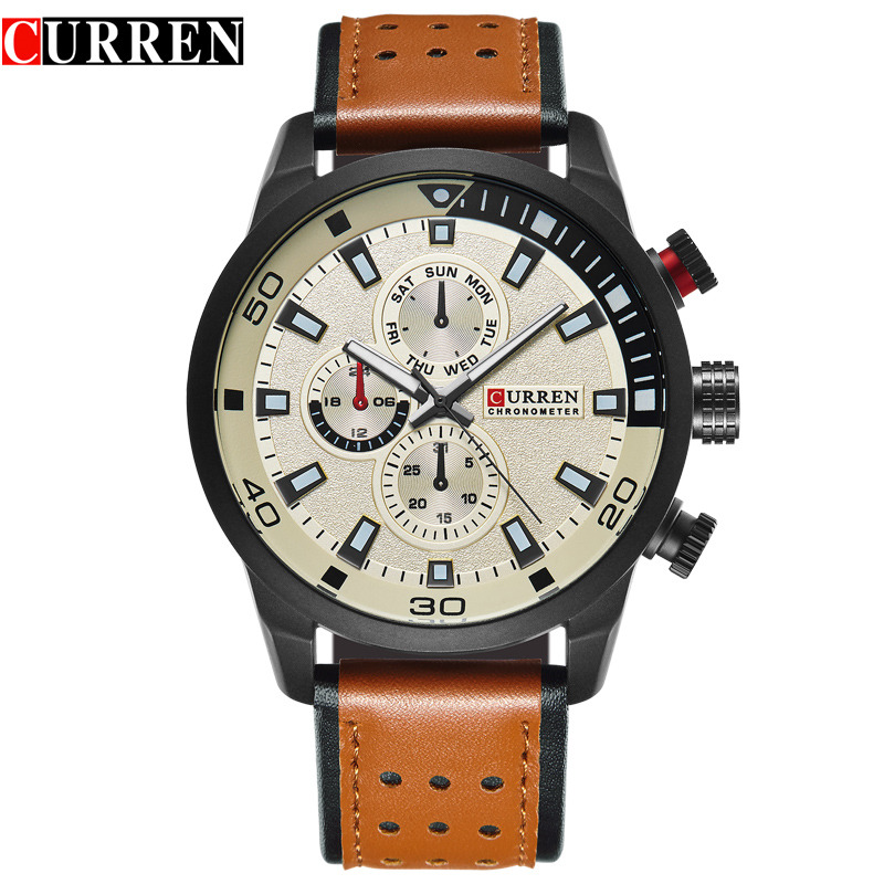 Mens Watches Top Brand Luxury CURREN Clock Men Sport Leather Strap Wristwatch Military Leather Quartz Watch Relogio Masculino meibo brand fashion women hollow flower wristwatch luxury leather strap quartz watch relogio feminino drop shipping gift 2012