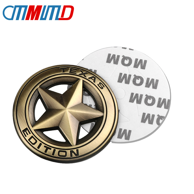 Car accessories 3D Metal TEXAS EDITION Pentagram Emblem Badge Car Badge Stickers Decal for JEEP Wrangler Liberty Grand Cherokee
