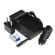 Hot sales (4pcs/set) 1xNP-FD1 NP-BD1 NP BD1 NP FD1 Camera Battery+Charger+Car Charger Free Plug For Sony T2 T90 T70 T200 T300 z1