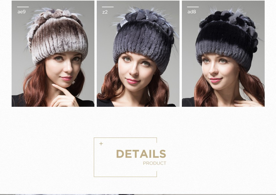 fur winter hats for women PCM003 (5)