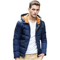 Winter Thick Padded Parka Men Short Jacket Coat Russian Wadded Hooded Casual Warm Snow Windbreaker Overcoat Male Jackets