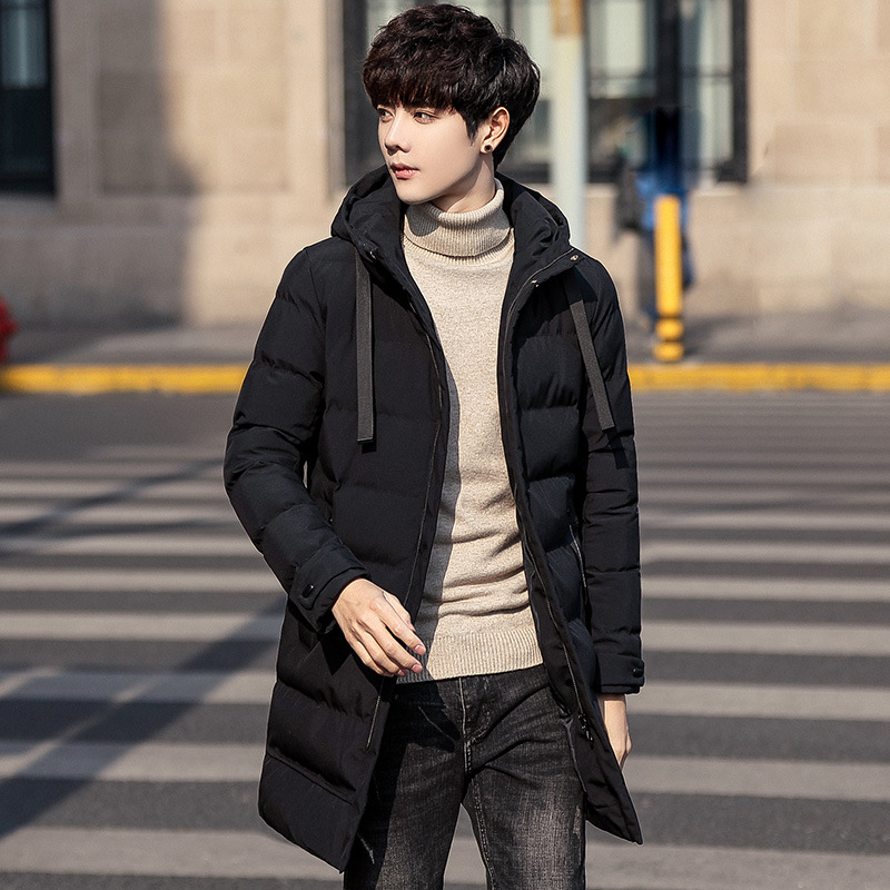 Cotton-padded Clothes More Handsome Male Hooded Trend Winter Coat Vogue Of New Fund Of 2018 Is Easy To Keep Warm Jacket