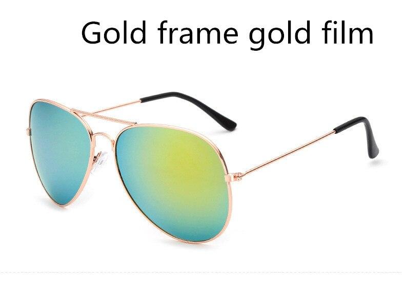ASUOP2018 new ladies retro cat eye sunglasses luxury brand fashion men's pilot glasses UV400 night vision goggles night vision goggles (3)